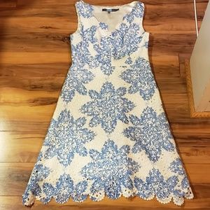 Eva Franco Scallop Neck Lace Dress Sz 6
